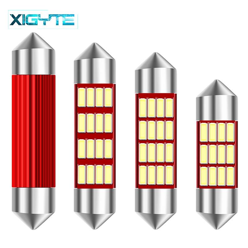 1 Pcs LED Bulb Light C5W Error Free 31mm 36mm 39mm 42mm Festoon C10W 4014 SMD Auto Car Styling Interior External Lights Canbus