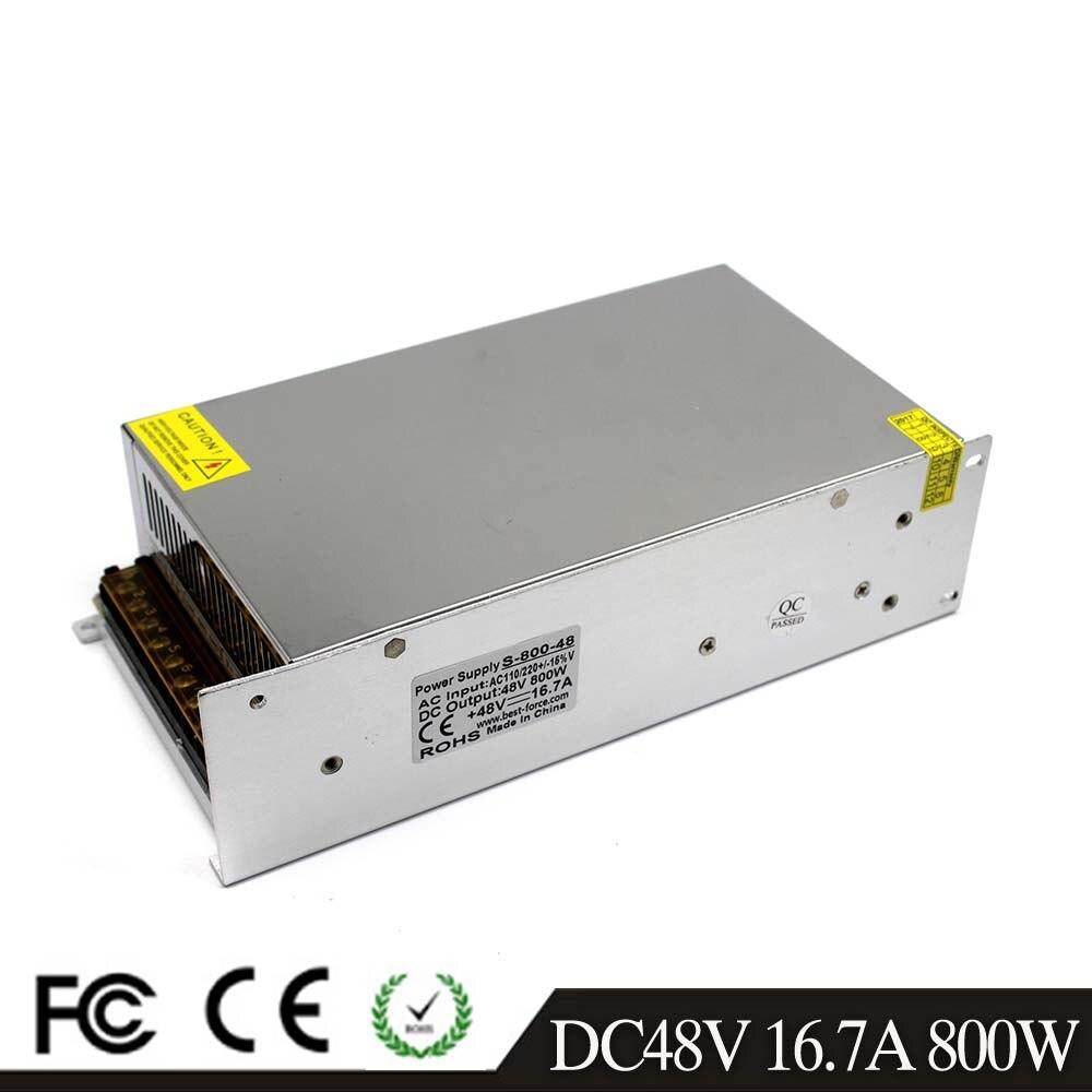 48V DC Power Supply Switching 16 7A 800W Driver Transformers 220V 110V AC to DC48V Power