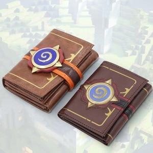Image 2 - MSMO Kabartmalı Deri Hearthstone Heroes Warcraft Kartı dünyası Cüzdan Paketi Yeni Hediye