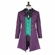 Black Butler Cosplay Kuroshitsuji 2 Earl Alois Trancy Cosplay Costume Double-breasted Frock Coat Halloween Costume for Men