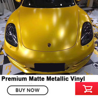 Lightnin Free Shipping High Quality 20m Yellow Vinyl Wrap With Air Release Satin Matt Black Foil
