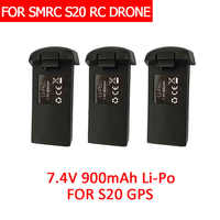SMRC S20 RC drone extra battery 7.4V900MAH Spare battery for S20 GPS DRONE