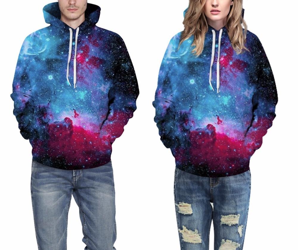 Leezeshaw 2018 3D Hooded Sweatshirt Men Women Digital Printing Long Sleeve Hoodies Cartoon Pocket Sweatshirts Thin Outwear