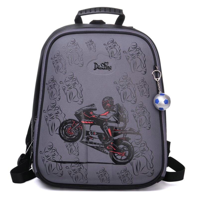 High Quality Delune 2019 Cartoon Children School Backpack for Boys Orthopedic Backpack Children s School Bag
