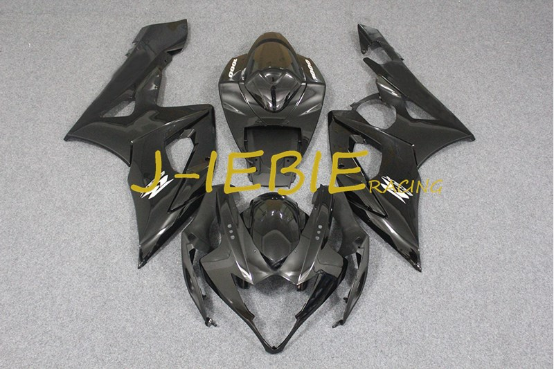 Black ABS Injection Fairing Body Work Frame Kit for SUZUKI GSXR 1000 GSXR1000 K5 2005 2006