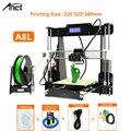Anet A8 Autol выравнивание Impresora 3d принтер DIY комплект Imprimante 3d принтер s алюминиевый Подогрев поддержка Off-line подарок 10 м нить