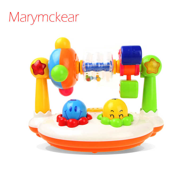 Musical Rotating Fitness Frame Baby Toy Cute Electric Educational Toys Sound& Flash Toy Kids Toy Newborn Gift