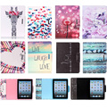 For Apple iPad 2 3 4 9.7'' Case Fashion Owl Dandelion Carton Pattern PU Leather Flip Tablet Cover For iPad2 iPad3 iPad4 Coque