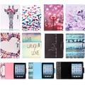 Para apple ipad 2/3/4 9.7 ''case buho de la manera de diente de león cartón Patrón PU Del Tirón Del Cuero Cubierta de La Tableta Para iPad2 iPad3 iPad4 Coque
