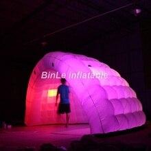 뜨거운 판매 풍선 조명 5mW 공기 하프 돔 풍선 텐트 풍선 텐트 전시회 부스 텐트 muntifunctional