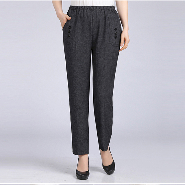 New Arrivals Spring Summer Plus Size Casual Pants Women Slim Capris Mother Leggings Elegant Simplicity Trousers Women H182
