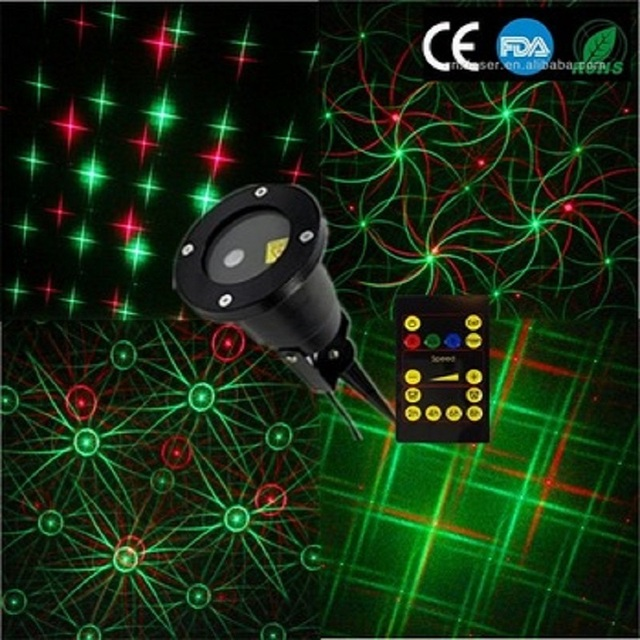 Wholesale Newest Outdoor Christmas Projector Multipattern Christmas  Decoration Laser Light/star Shape Laser Christmas Lights