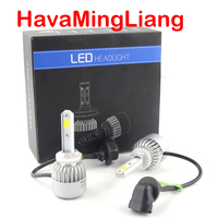 2Pcs Auto H4 LED H7 H11 H8 9006 HB4 H1 H3 HB3 S2 Car Headlight Bulbs