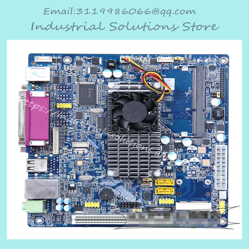 D525 2COM Mini Industrial Motherboard Pos Household Work Package 100% tested perfect quality atom d525 itx d525 2com industrial motherboard bt pos training e3001 e2011 100% tested perfect quality