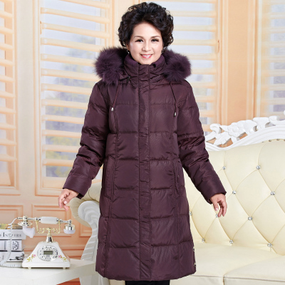 цены 2017 Winter Fashion Women's Duck Down Coat Mother Jacket Thickening With Real Fur Hooded Plus Big Size XXXXXL 2XL 3XL 4XL 5XL