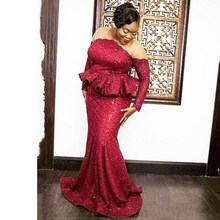 383bf46e32 Burgundy African Lace Dresses Promotion-Shop for Promotional ...