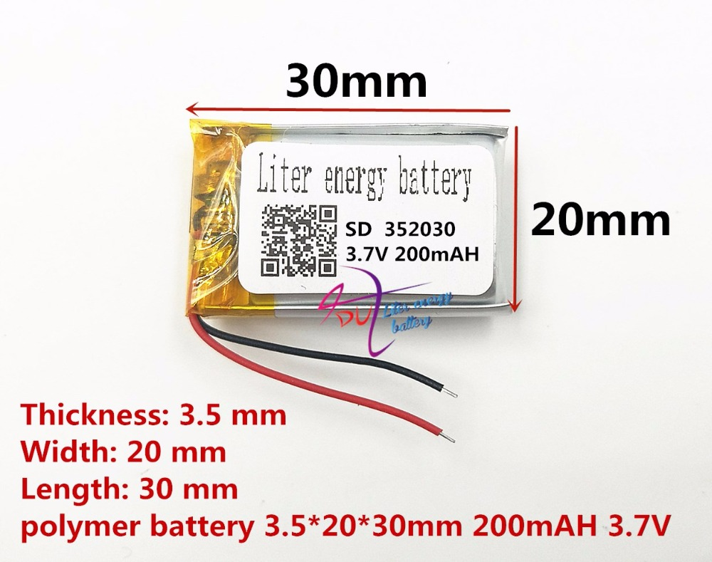 Liter Energy Battery Bluetooth Headset Battery 352030 200MAH Lithium Battery MP4 MP3 Small Toys