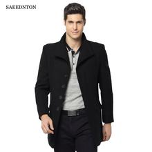 2018 Men Winter Coat For Men Overcoat Male Long Wool Coat Men Peacoat Jackets Duffle Woolen