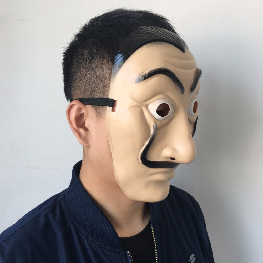 Salvador Dali Masks 2018 Hot Sale La Casa De Papel Clown Face Cosplay ABS Masks Halloween Party Masquerade Props2