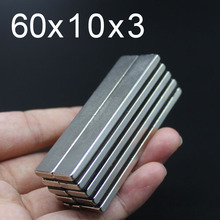 1/3/5/10Pcs 60x10x3 Neodymium Magnet 60mm x 10mm x3mm N35 NdFeB Round Super Powerful Strong Permanent Magnetic imanes