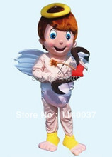 mascot CUPID MASCOT COSTUME VALENTINE'S DAY Cupid Mascotte Outfit Suit Fancy Dress EMS FREE SHIPPING