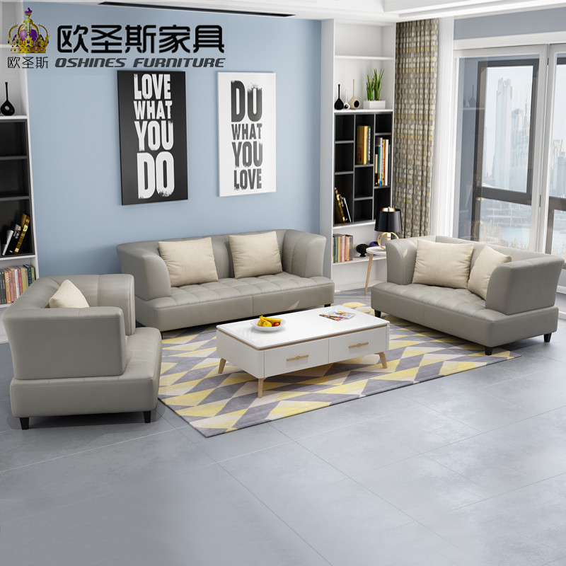 US $810.0 10% OFF|Barcelona Silver Modern Cow Leather Sofa Set Designs And  Minimalist Modern Sectional Sofa New Arrival 2019 Livingroom Sofa 115A-in  ...