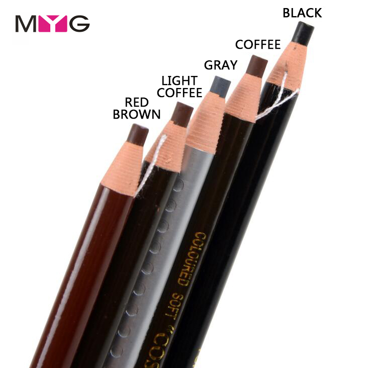 MYG High Quality Eyebrow pencil Waterproof Longlasting Eye Brow Liner Shapper Eyebrow En ...