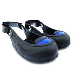 سلامة واقية غطاء أحذية المطاط المضادة للانزلاق ومكافحة سحق الصلب تو الزوار الجرم