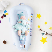 Baby Travel Bed Children's Cribs Brown Fabric Crib Bedding Infant Sleeping Basket Cots for Babies Portable Baby Bed Cradle
