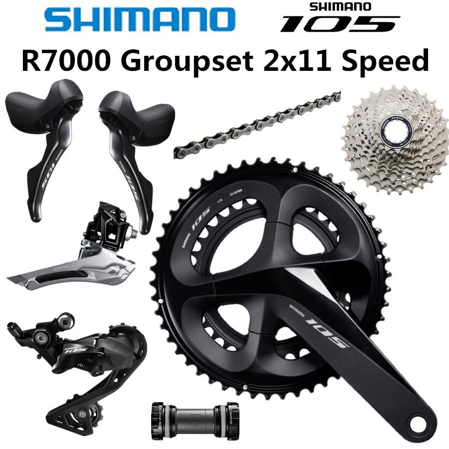 Shimano 105 FC-R7000 Crank Set 165//170//172.5//175mm 50//34//52//36//53//39T W//O BB