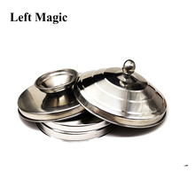 Large Dove Pan Of Collector - Silver Double Layer/Load Magic Tricks  Appearing Stage Magic Props  Illusions Accessories Gimmick magic tricks nite club dove vanish dove magic illusions magic props stage magic
