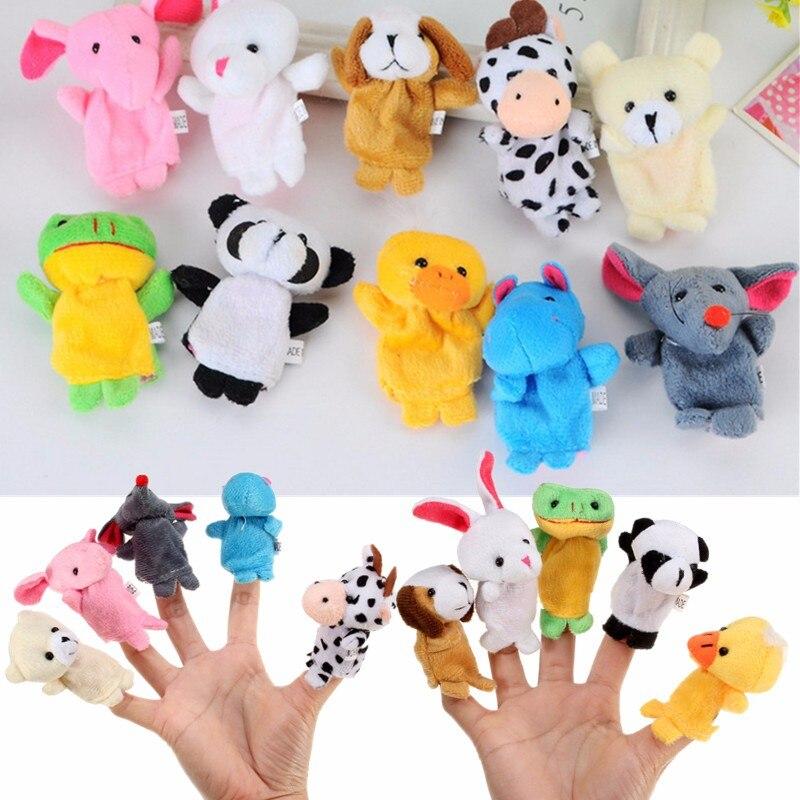 10 pcs Animal Cartoon Fingertiere Handkasperletheater Puppets Finger Baby Toys