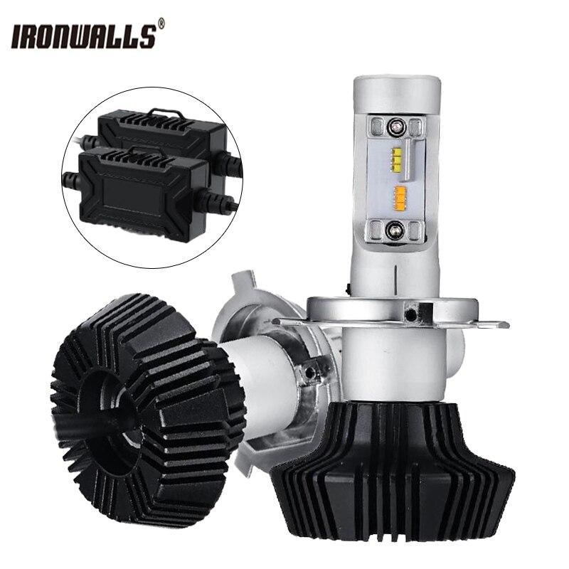 купить Ironwalls H4 H7 H11 9005 9006 Car Led Headlight Bulbs Auto LED Fog Lights Head Lamp Hi/Lo Beam 50W 6500K 3000K 12V 24V по цене 2102.63 рублей