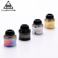 Augvape Merlin mini Top Cap Kit RDA Atomizer Cap for Merlin Mini RTA Atomizer Tank Turns to RDA Top Cap Rainbow Gold Vape Tank