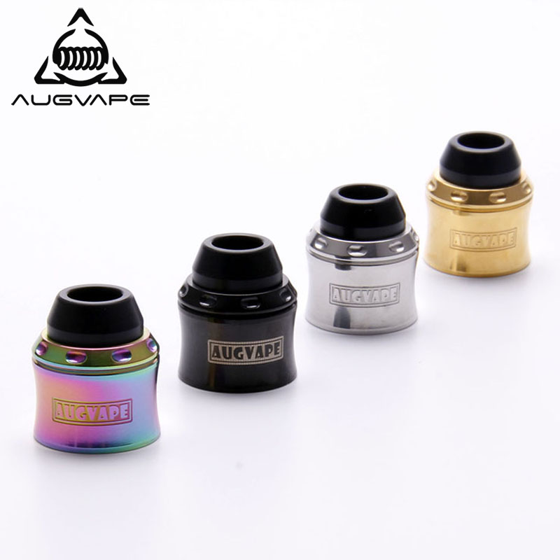 Augvape Merlin mini Top Cap Kit RDA Atomizer Cap for Merlin Mini RTA Atomizer Tank Turns to RDA Top Cap Rainbow Gold Vape Tank lace contrast tank top