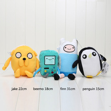 4 Styles Choice Adventure Time Plush Toy Jake Finn Beemo Penguin Plush Dolls Soft Toys Stuffed Animals Plush Dolls