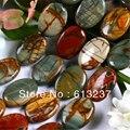 Natural multicolor Picasso jasper oval 13x18mm precioso granos flojos de piedra Joyería que hace encantos diy de las mujeres elegantes 15 pulgadas MY4300