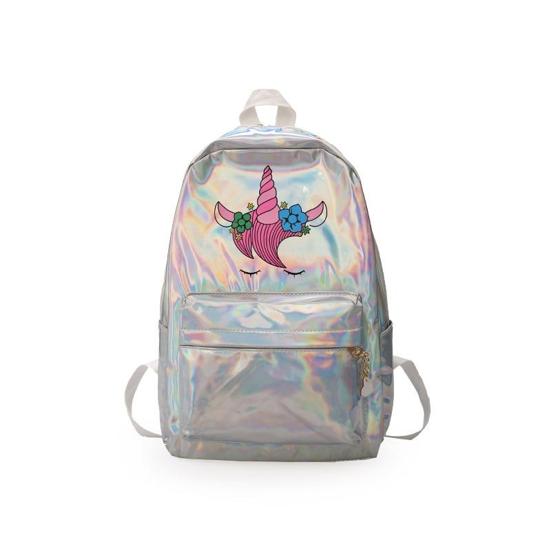 LXFZQ Mochila Infantil Laser School Bags Holographic Bag School Backpack For Girls Plecak Szkolny Kids Bag Children's Backpacks
