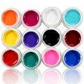 12 Ollas de Esmalte de Uñas de Gel UV Arte Colorido 3D Nail Polish extensión Decoraciones DIY Manicura Salón de Belleza Uñas de Arte 8 ML Pure Color