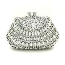 Luksusowe damskie torebki ślubne wesele eleganckie torebki damskie wieczorne party małe portfele diamenty kryształowe wieczorowe kopertówki tanie tanio HAITAOMG MINAUDIERE Torebki wieczorowe Metalowe klamerka HARD NONE DRESS LK062681 POLIESTER Na imprezę WOMEN Z wycięciami