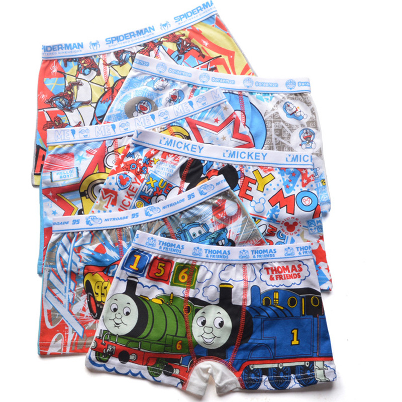 6pcs/Set Cartoon Boys Briefs Children Panties Cotton Boys Boxer Underwear Soft Boxer Short Panties Children Underpants Clothing недорго, оригинальная цена