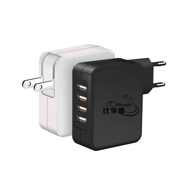4 Portas USB Carregador de Parede Carregador de Viagem EUA/UE Ficha 40 WUSB móvel carregador de telefone/multi carregador/carregamento cabeça/USB power adaptador