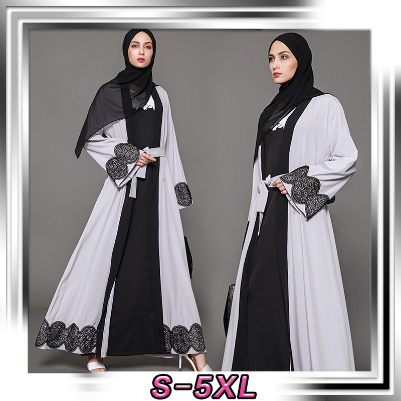 2018 Muslim kaftan Islamic abaya dress robe for woman