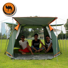 New arrival double layer 3-4 person automatic waterproof windproof super strong camping tent beach tent