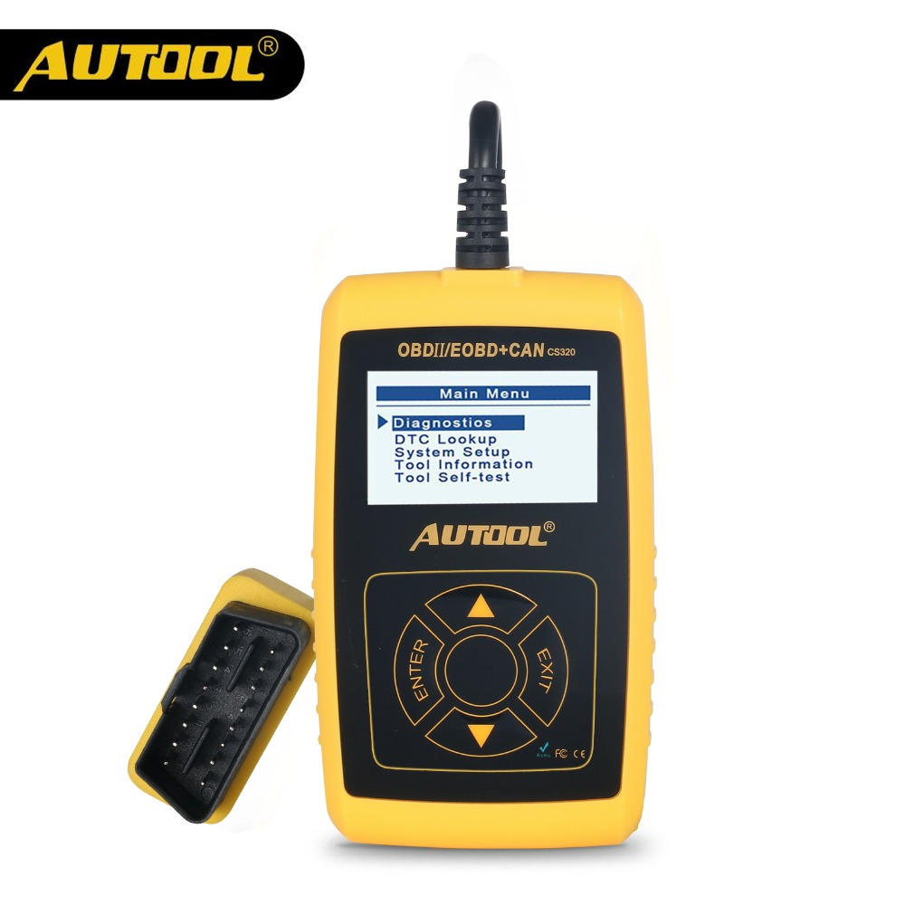 AUTOOL CS320 OBD2 Automotive Scanner OBD 2 II Car Code Reader Auto Vehicle Scan Diagnostic Tool PK AD310 Launch X431 OM123 Scan