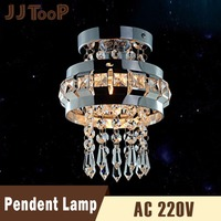 JJD LED Luxurious Crystal Ceiling Lamps Lamp Decor Chandelier Light E27 G4 Modern lamps Stainless Steel Bedroom Foyer