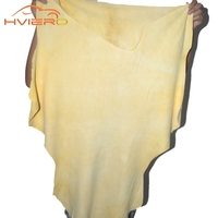 1pcs Auto Care Natural Drying Chamois 60x40cm Approx Free Shape Cleaning Genuine Leather Cloth