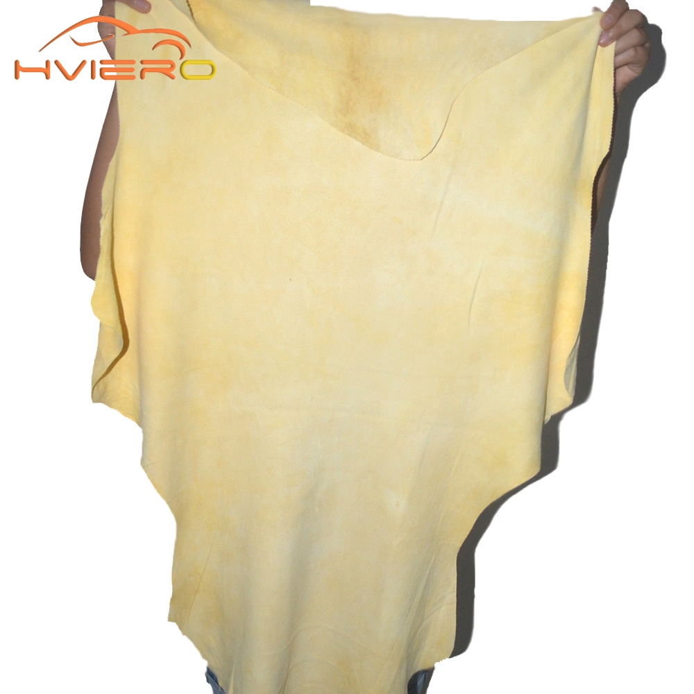 1pcs Auto Care Extra Large Auto Car Natural Drying Chamois 60 x 90cm approx free shape Cleaning Genuine Leather Cloth
