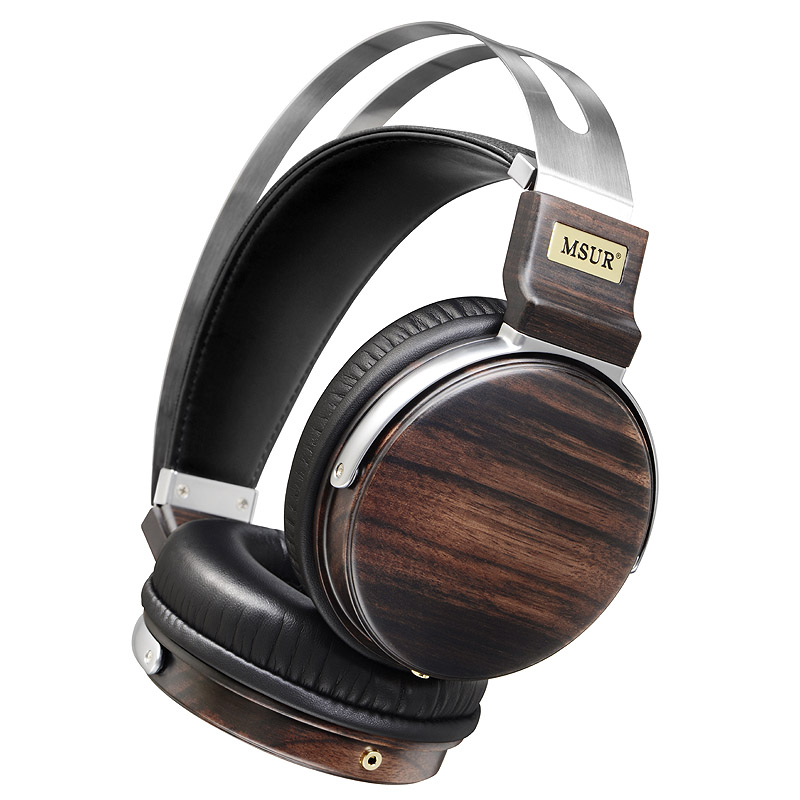 New Original MSUR N650 Wooden Metal Hifi Music DJ Headphone Headset Earphone With Beryllium Alloy Driver Portein Leather 100% original high blon b6 hifi wooden metal headband headphone headset earphone with beryllium alloy driver leather cushion