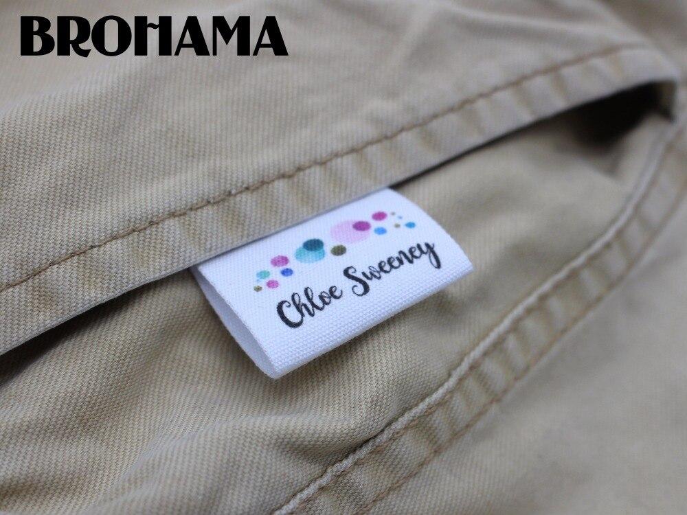 Custom folding labels, custom logo, fabric labels, cotton, high quality printing (MD076)